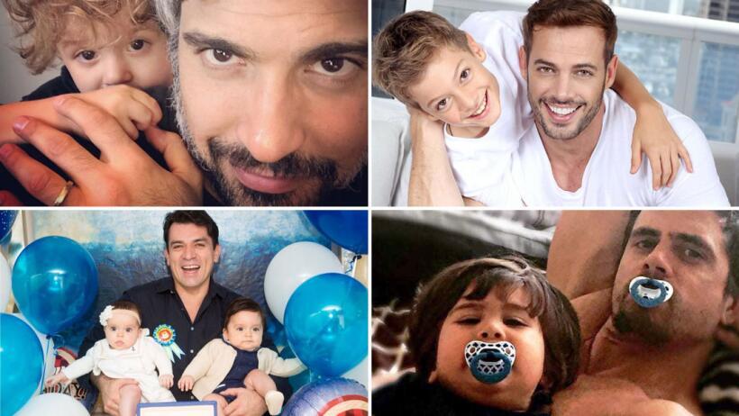 Son actores de telenovela y papás cariñosos
