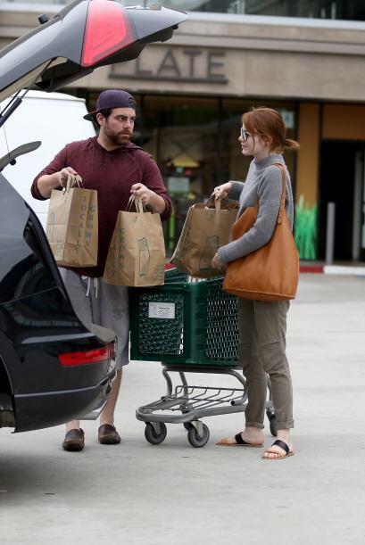 Y no vimos por ninguna parte a su pareja, el actor Andrew Garfield.