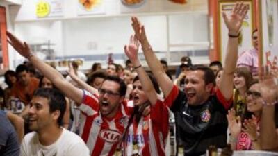 La afición colchonera celebró su décimo título de Liga.