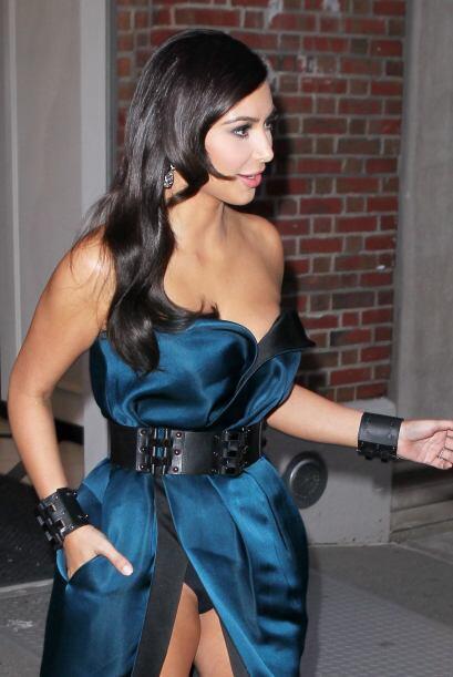 Pero Kim nos regaló más que una linda foto, ¡nos flasheó con sus calzone...