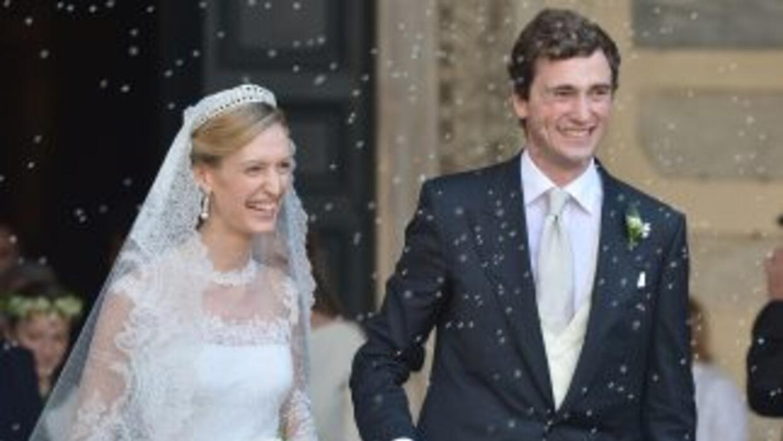 El príncipe Amadeo de Bélgica y la periodista italiana Elisabetta Maria...