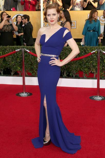 Amy Adams se decantó por un extraordinario vestido de Antonio Berardi. E...