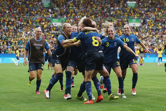 Suecia elimina a Brasil, el conjunto europeo vence 4-3 en penales a las...