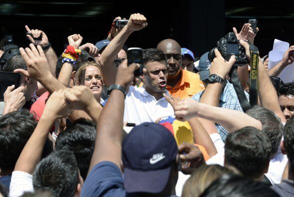 El líder de la oposición, dirigente del Movimiento Voluntad Popular, sal...