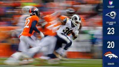 Los Rams sintieron la presión al final pero los Broncos se quedan cortos y siguen invictos
