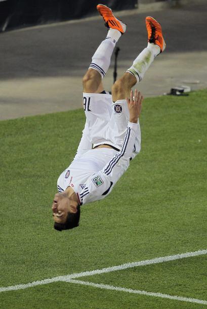 Así festejó Marco Pappa, jugador del Chicago Fire el gol del empate ante...
