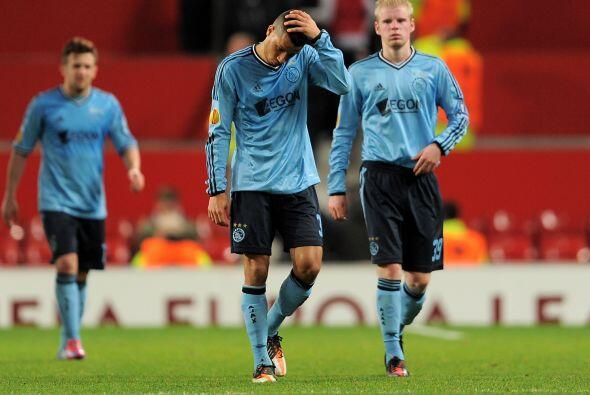 A pesar de haber ganado el partido, Ajax quedó fuera de la Liga Europa.