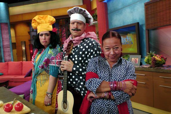Angélica también visitó al Chef Paco y encarnó a Paca, su amada y antigu...