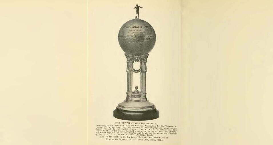US Open Cup primer trofeo en 1914