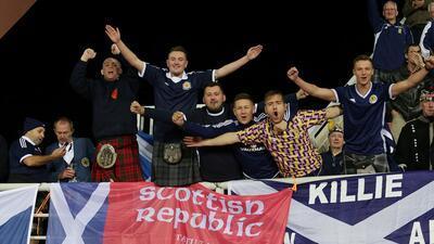 En fotos: los escoceses se tomaron Albania y celebraron en la UEFA Nations League