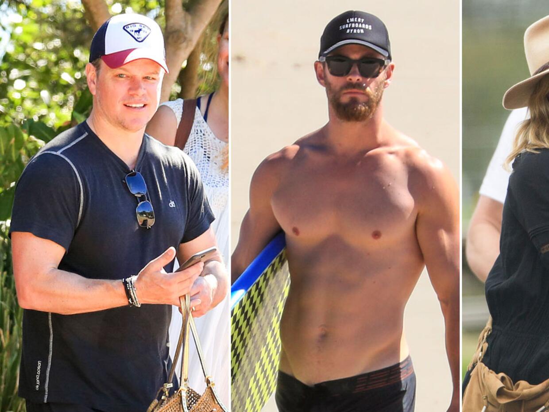 Matt Damon viajó a Australia para estar con Chris Hemsworth y Els...