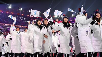 Corea unificada por el deporte: las imágenes por las que no olvidaremos la inauguración de Juegos Olímpicos de 2018