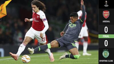 Arsenal avanza a la siguiente ronda de Europa League tras empatar ante el Sporting de Lisboa
