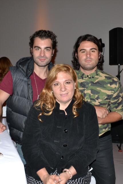 Rogelio Guerra y sus hijos
