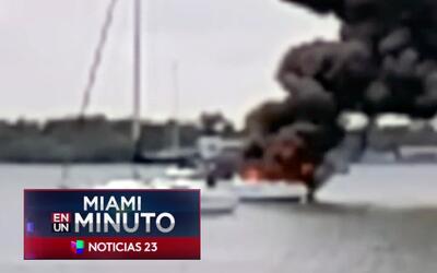 'Miami en un Minuto': bomberos lograron controlar las llamas provocadas...