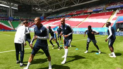 En fotos: Francia vela armas para su debut mundialista ante Australia