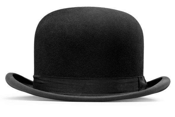 Sombrero bowler. Los sombreros muestran personalidad ¡y agregan interés...