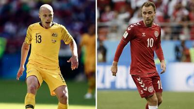 En fotos: Dinamarca y Australia están en 'pie de guerra' por el Grupo C