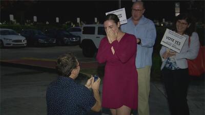 En video: la inusual propuesta de matrimonio en un centro de votación en Florida