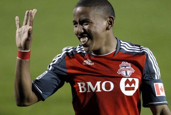 En el triunfo del Toronto FC Joao Plata estaba muy contento por su gol.....