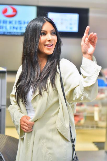 Así se despidió Kim de sus queridos paparazzi, ¡bye, bye!