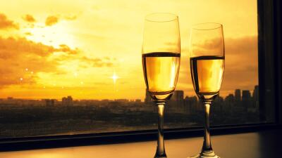 San Valentín con champaña