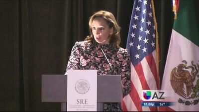 Canciler mexicana inaugura nuevo consulado en Tucson