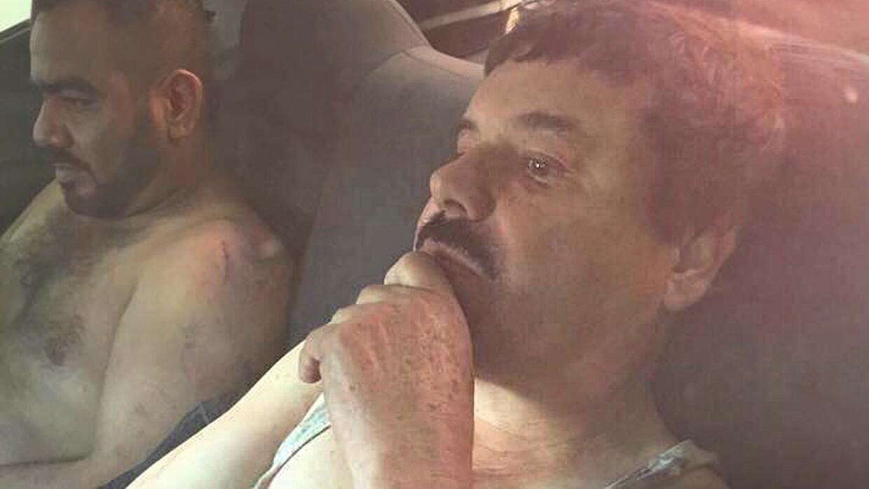 """Gobierno mexicano exhibe a """"El Chapo"""" tras su recaptura Chapo_COntainer.jpg"""