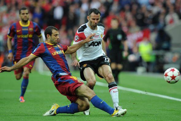 Ya en la segunda mitad, el Barcelona fue el único que jugó.
