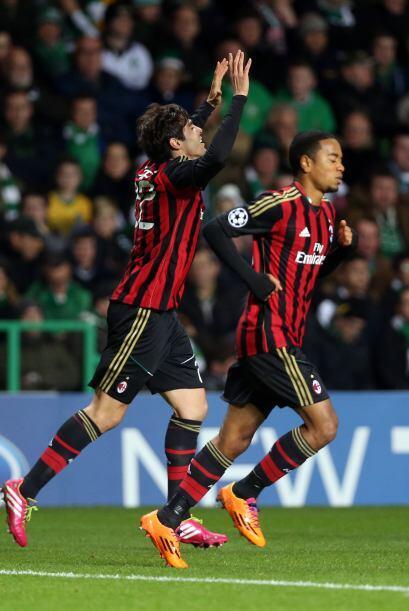 Kaká, el mejor jugador en este partido, colocaba el 1-0 apenas al minuto...