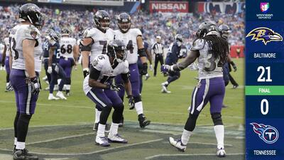 Los Ravens blanquean a unos inofensivos Titans