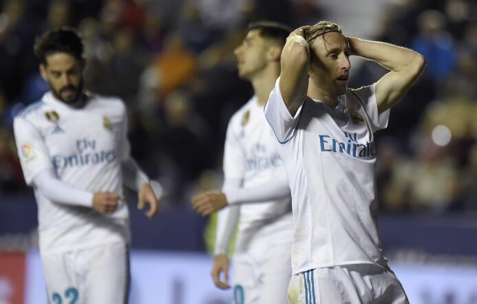 El Levante aprovechó dos errores defensivos del Real Madrid para igualar...
