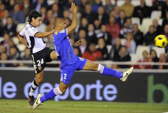 El resultado fue de 2-0 y Valencia escaló posiciones, hasta el cuarto pu...
