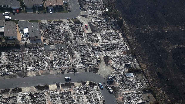 Las fotos de los incendios de California tomadas por un astronauta de la...