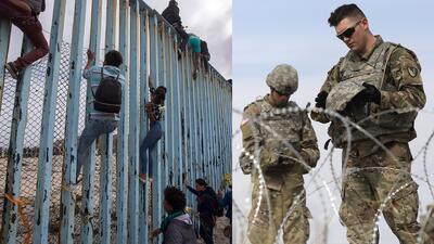 """La frontera ya luce como """"zona de guerra"""" ante llegada de caravana migrante"""