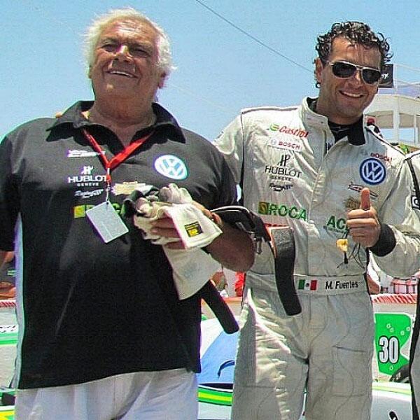 Martin Fuentes y su papá Enrique Fuentes León