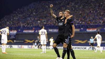 En fotos: Dínamo Zagreb no se apiada y vapulea 4-1 al Fenerbahce en la Europa League