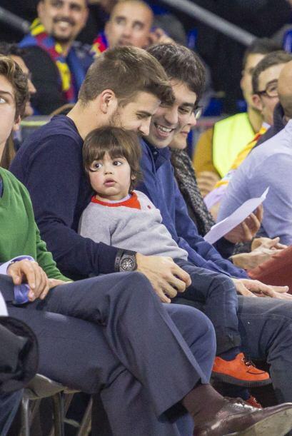 Gerard y Milan acudieron a un encuentro de baloncesto en Barcelona.