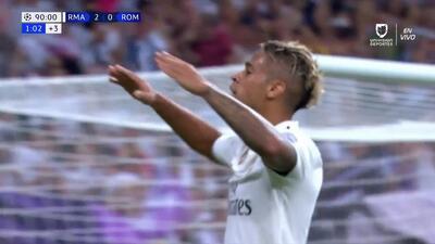 ¡GOOOL! Mariano anota para Real Madrid