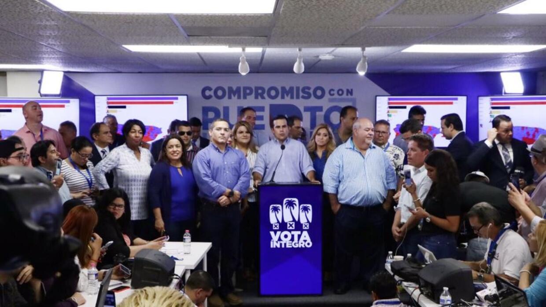 Ricardo Rosselló, gobernador electo de Puerto Rico en conferencia de pre...