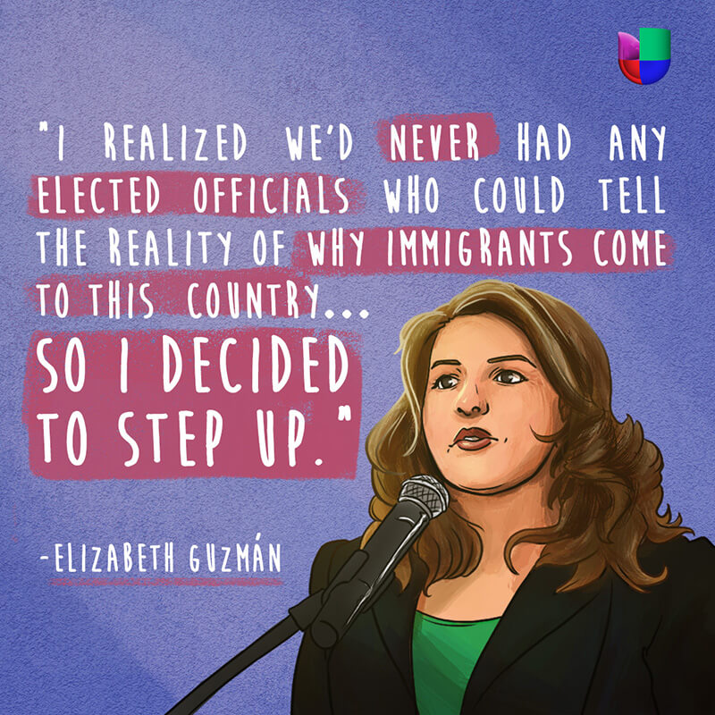Elizabeth Guzman: For Taking Her Immigrant Story To The