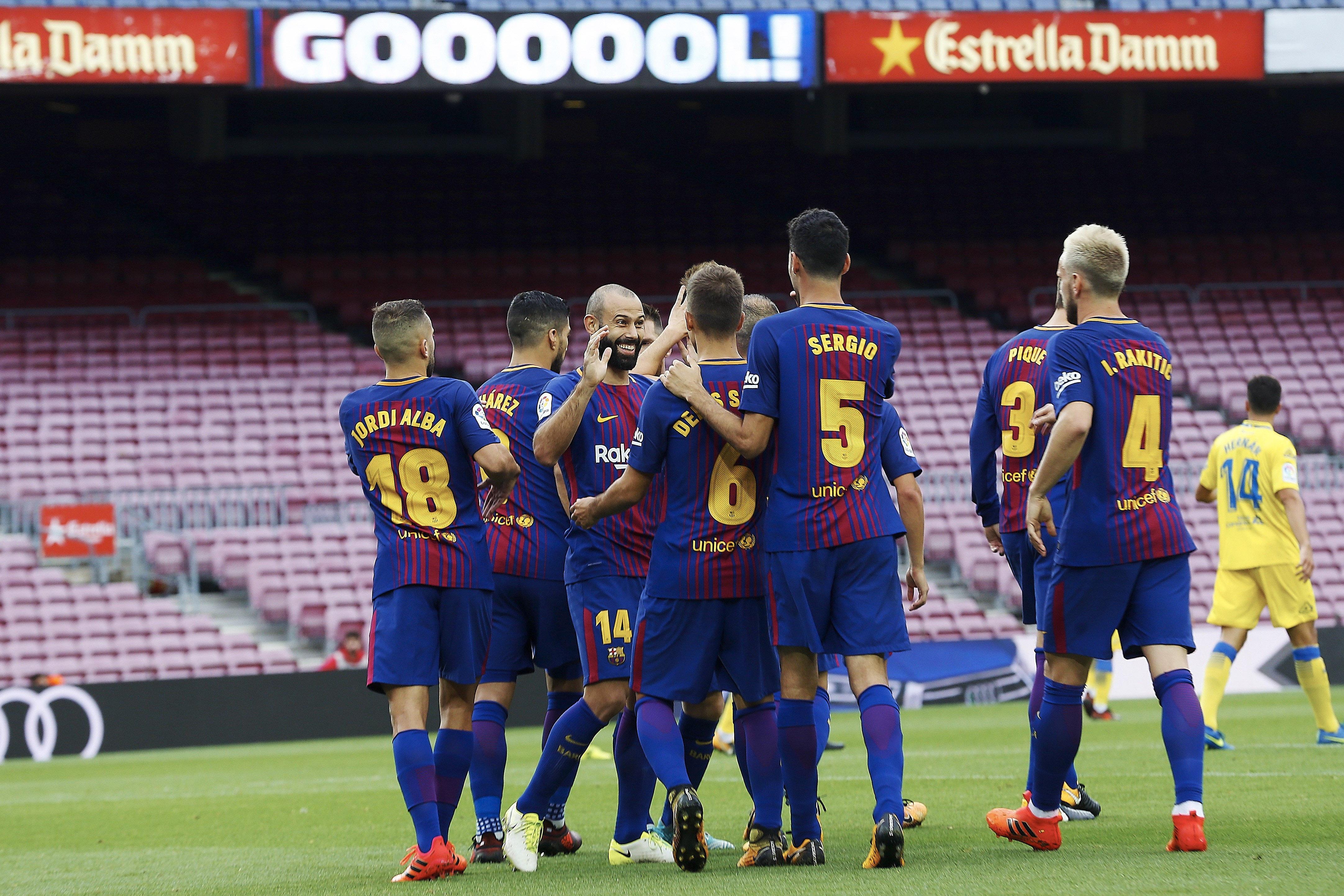 En un desolado Camp Nou sin público, el Barcelona goleó a Las Palmas ...